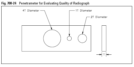 Penetrameter for Evaluating Quality of Radiograph