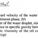 Gravity Separation Velocity Calculation