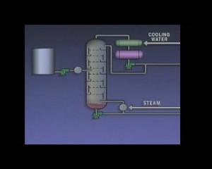 Distillation tower schematic