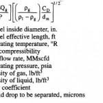 Three Phase Horizontal Separator Sizing